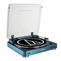 Audio Technica, Fully Automatic Belt-Drive Stereo Turntable, blue, AT-LP60USB BL image here