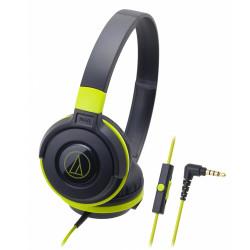Audio-Technica, Street Monitoring Headphones, black green, ATH-S100iS BGR image here