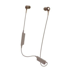 Audio-Technica, Wireless In-ear Headphones with In-line Mic & Control, brown gold, ATH-CK200BT BG image here