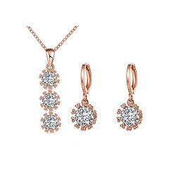 Treasure by B&D,S088-B Zircon Round with Stone Jewellery Set,KZCS088-B image here