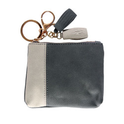 Treasure by B&D,Women PU Zipper Small Coin Purse Wallet,Navy,Simple Coin Purse Navy Blue image here