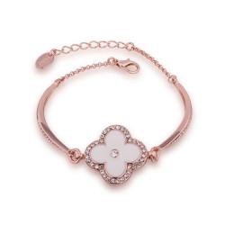 Treasure by B&D,B055 Plated Flower Pendant Czech Bracelet Bangle,LKN18KRGPB055 image here