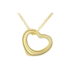 Treasure by B&D,N045 Simple Love heart Design Pendant Necklace Party Jewelry,AKN045 image here