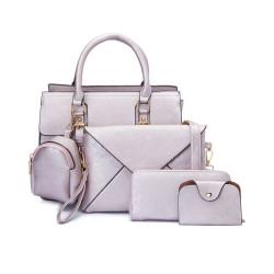 Treasure by B&D,5 in 1 Fashion Bag Set,lavender,123456 lavender image here