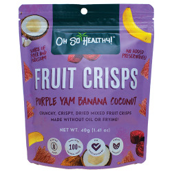 Fruit Crisps Purple Yam Banana Coconut 40g,Purple,4806531960020 image here
