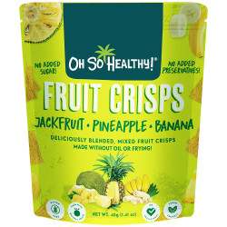 Fruit Crisps Jackfruit Pineapple Banana 40g,Lime Green,4806531960228 image here