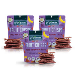 Fruit Crisps Purple Yam Banana Coconut 40g Bundled Pack By 3,Purple,3-4806531960020 image here