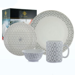 Royal King, 16pc Angel Plano Dinner Set, White, RK 096 image here