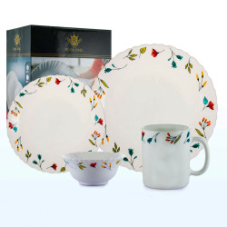 Royal King, 16pc Minerva Fluted Dinner Set, White, RK 092 image here