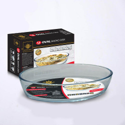 Royal King, 1.6 Liter Oval Baking Dish, Clear, RK 116 image here