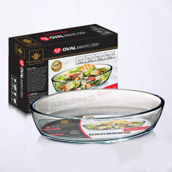 Royal King, 4.0 Liter Oval Baking Dish, Clear, RK 119 image here