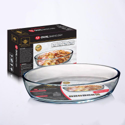 Royal King, 3.0 Liter Oval Baking Dish, Clear, RK 118 image here