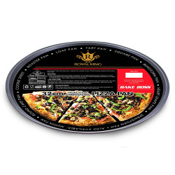 Royal King, 32cm Non-Stick Carbon Steel Pizza Pan, Black, RK 069 image here