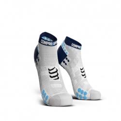 PRO RACING SOCKS V3.0 RUN LOW WHITE BLUE image here