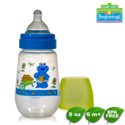 Sesame Beginnings 9oz Wide Neck Feeding Bottles image here