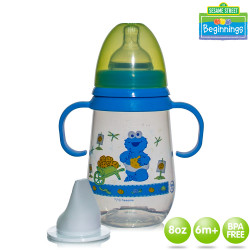 Sesame Beginnings 8oz Wide Neck Feeding Bottles with Handle image here