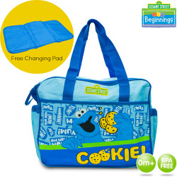 Sesame Street Beginnings Cookie Diaper Bags image here