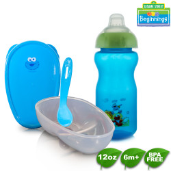 Sesame Beginnings Bowl with Spoon and Trusip Soft Spout Cup image here