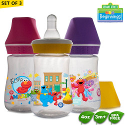 Sesame Beginnings 4oz Feeding Bottles - Set of 3 image here