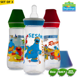 Sesame Beginnings 8oz Feeding Bottles - Set of 3 image here