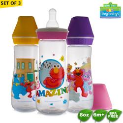 Sesame Beginnings 8oz Feeding Bottles - Set of 3 image here