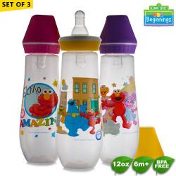 Sesame Beginnings 12oz Feeding Bottles - Set of 3 image here