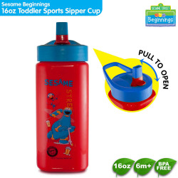 Sesame Beginnings 16oz Toddler Sports Sipper Cup image here