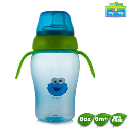 Sesame Beginnings 8oz Training Cup with Handle image here