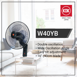 KDK Wall Fan W40Y image here