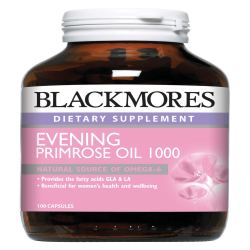 BLACKMORES EVENING PRIMROSE OIL 1000MG 100S image here