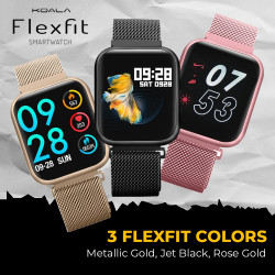 Koala Flexfit Smartwatch Stainless Steel Collection in Jet Black image here