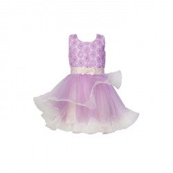 BABY FASHIONISTAS FLORAL WITH SEQUIN WITH HORSIER GIRL PARTY DRESS PURPLE image here