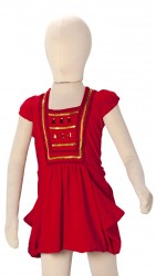 BABY FASHIONISTAS STONED AND SQEQUINNED GIRL PARTY DRESS RED image here