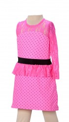 BABY FASHIONISTAS ONE SLEEVE PEPLUM LACE GIRL PART image here
