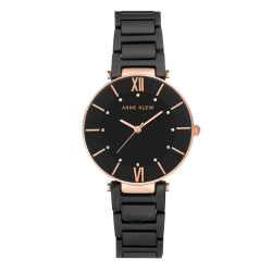 ANNE KLEIN WOMEN'S CERAMIC WATCH | BLACK - AK 3266BKRG image here