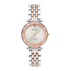 ANNE KLEIN WOMEN'S MINERAL CRYSTAL LENS WATCH | ROSE GOLD - AK 3413SVRT image here
