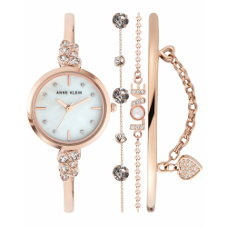 ANNE KLEIN WOMEN'S WATCH LIMITED EDITION BOX SET | ROSE GOLD - AK 3430RGST image here