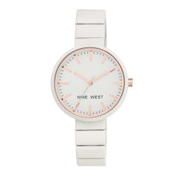 NINE WEST Matte Ivory Rubberized Bracelet Watch NW/2012IVRG image here