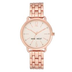 NINE WEST Women's Rose Gold-Tone adjustable link bracelet NW/2150RGRG image here