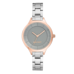 NINE WEST Women's Metallic Rose Gold-Tone and Silver-Tone bracelet NW/2225GYRT image here