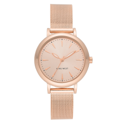 NINE WEST Women's Rose Gold-Tone Mesh Bracelet Watch NW/2392RGRG image here