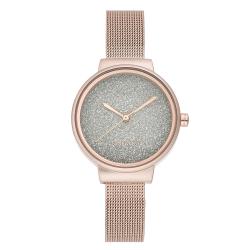 NINE WEST Women's  Rose Gold-Tone Mesh Bracelet Watch NW/2396RGRG image here