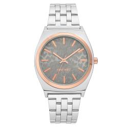 NINE WEST WOmen's Silver-Tone Bracelet Watch NW/2405GYRT image here