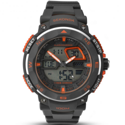 Sekonda Men's Grey Strap Digital Watch - 1163 image here