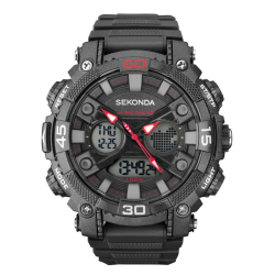 Sekonda Men's Dark Grey Strap Digital Watch - 1036 image here