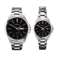Sekonda His & Hers Classic Stainless Steel Bracelet Watch Set - 1097/2097 image here