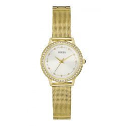 GUESS WOMEN'S GOLD TONE CASE MESH BRACELET WATCH - W0647L7 image here