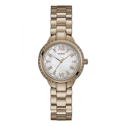 GUESS WOMEN'S ROSE GOLD TONE CASE STAINLESS STEEL  WATCH - W1016L3 image here