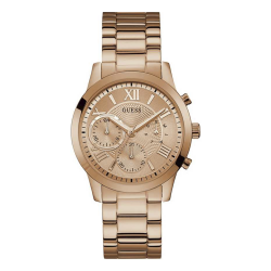 GUESS WOMEN'S ROSE GOLD TONE CASE STAINLESS STEEL  WATCH - W1070L3 image here