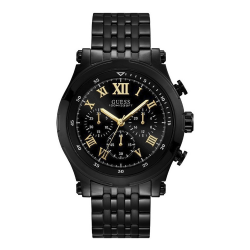 GUESS MEN'S BLACK  CASE STAINLESS STEEL  WATCH - W1104G2 image here